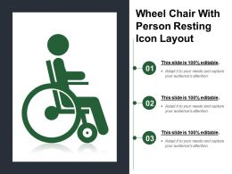 Wheel Chair With Person Resting Icon Layout