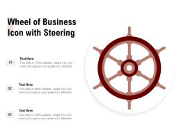 Wheel Of Business Icon With Steering
