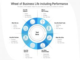 Wheel Of Business Life Including Performance