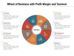 Wheel Of Business With Profit Margin And Turnover