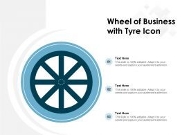 Wheel Of Business With Tyre Icon