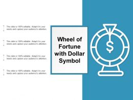 Wheel Of Fortune With Dollar Symbol