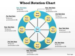 wheel rotation chart hub and spoke 8 stages quadrants powerpoint diagram templates graphics 712