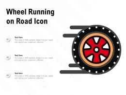 Wheel Running On Road Icon