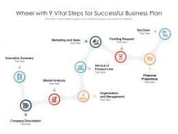 Wheel With 9 Vital Steps For Successful Business Plan