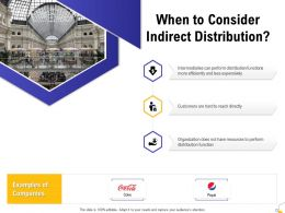 When To Consider Indirect Distribution Ppt Powerpoint Presentation Infographics