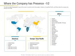 Where The Company Has Presence Americas Financial Market Pitch Deck Ppt Demonstration
