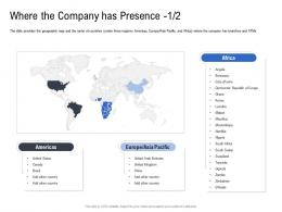 Where The Company Has Presence Pitch Deck To Raise Funding From Spot Market Ppt Infographics