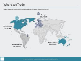Where We Trade North America Ppt Powerpoint Presentation Summary Demonstration