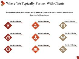 Where We Typically Partner With Clients Powerpoint Slides