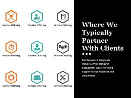 Where We Typically Partner With Clients Ppt Icon