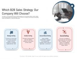 Which B2b Sales Strategy Our Company Will Choose New Age Of B To B Selling