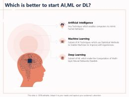 Which Is Better To Start AI ML Or Dl Enables Feasible Ppt Powerpoint Presentation File Good