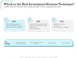 Which Is The Best Investment Measure Technique Calculates Present Ppt Guidelines