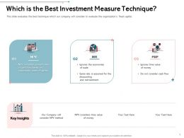 Which Is The Best Investment Measure Technique Consider Ppt Powerpoint Infographics