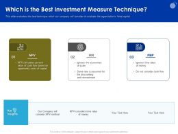 Which Is The Best Investment Measure Technique M949 Ppt Powerpoint Presentation Layouts Icons