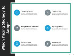Which Pricing Strategy To Adopt Ppt Portfolio Background Designs