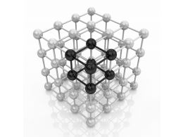 White And Black Molecules Design Stock Photo