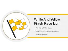 White And Yellow Finish Race Icon