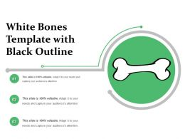 White Bones Template With Black Outline