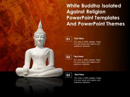 White Buddha Isolated Against Religion Powerpoint Templates And Powerpoint Themes