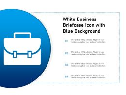 White Business Briefcase Icon With Blue Background