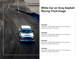 White Car On Gray Asphalt Racing Track Image