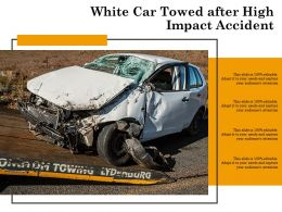 White Car Towed After High Impact Accident