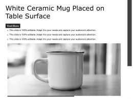 White Ceramic Mug Placed On Table Surface