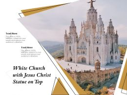 White Church With Jesus Christ Statue On Top