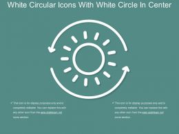 White Circular Icons With White Circle In Center