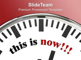 White Clock With Word This Is Now PowerPoint Templates PPT Themes And Graphics 0213
