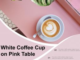 White Coffee Cup On Pink Table