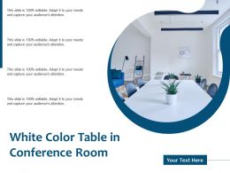 White Color Table In Conference Room
