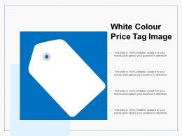 White Colour Price Tag Image