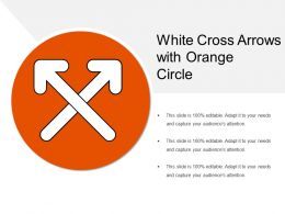White Cross Arrows With Orange