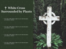 White Cross Surrounded By Plants