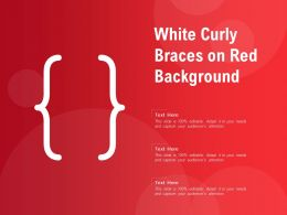White Curly Braces On Red Background