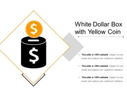 White Dollar Box With Yellow Coin