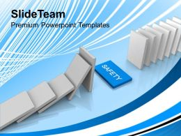 White Dominoes With Safety Business Powerpoint Templates Ppt Themes And Graphics 0113