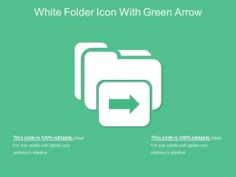 White Folder Icon With Green Arrow