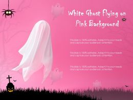 White Ghost Flying On Pink Background