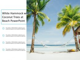 White Hammock With Coconut Trees At Beach Powerpoint