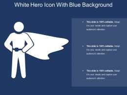White Hero Icon With Blue Background