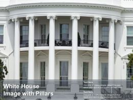 White House Image With Pillars