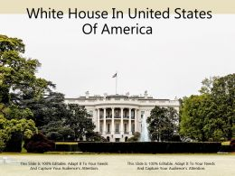 White House In United States Of America