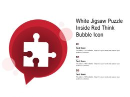 White Jigsaw Puzzle Inside Red Think Bubble Image