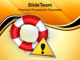 white lifesaver rescue icon powerpoint templates ppt themes and graphics 0213