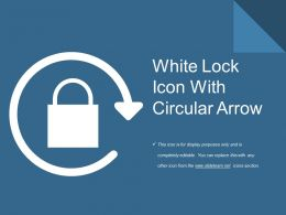 White Lock Icon With Circular Arrow