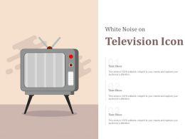 White Noise On Television Icon